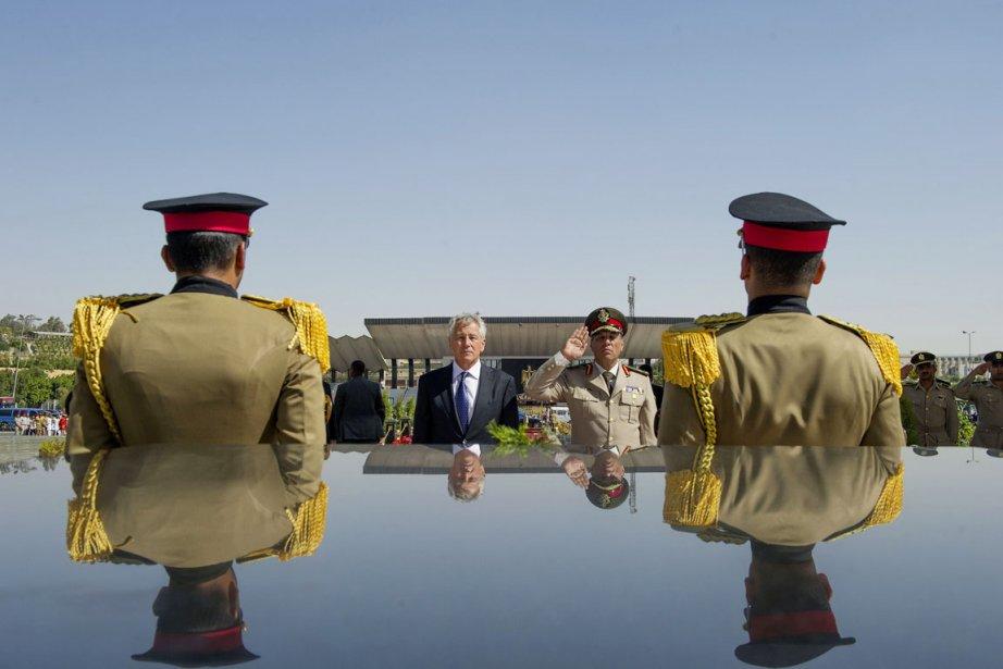 Le secrétaire à la Défense américain, Chuck Hagel... (PHOTO JIM WATSON, AFP)