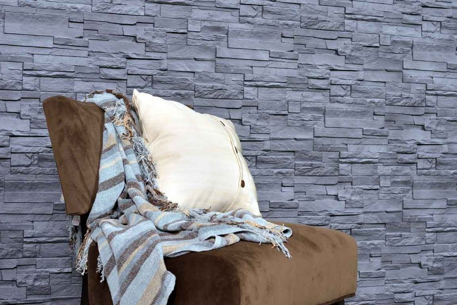 De la pierre en polym re sans joints laurie richard design - Installation pierre decorative interieur ...