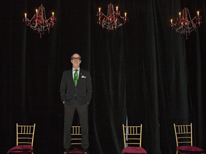 Le concepteur de l'événement Dick Walsh: «Après avoir fait des recherches sur la Bavière, j'ai eu deux coups de coeur: les brasseries et le film. Je me suis inspiré de ça pour le cocktail et la salle de bal.» | 26 avril 2013
