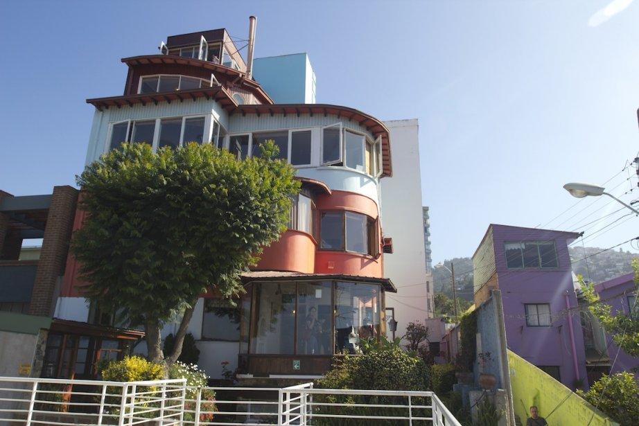 La Sebastiana, la maison du poète Pablo Neruda à Valparaiso. (Photo François Roy, La Presse)