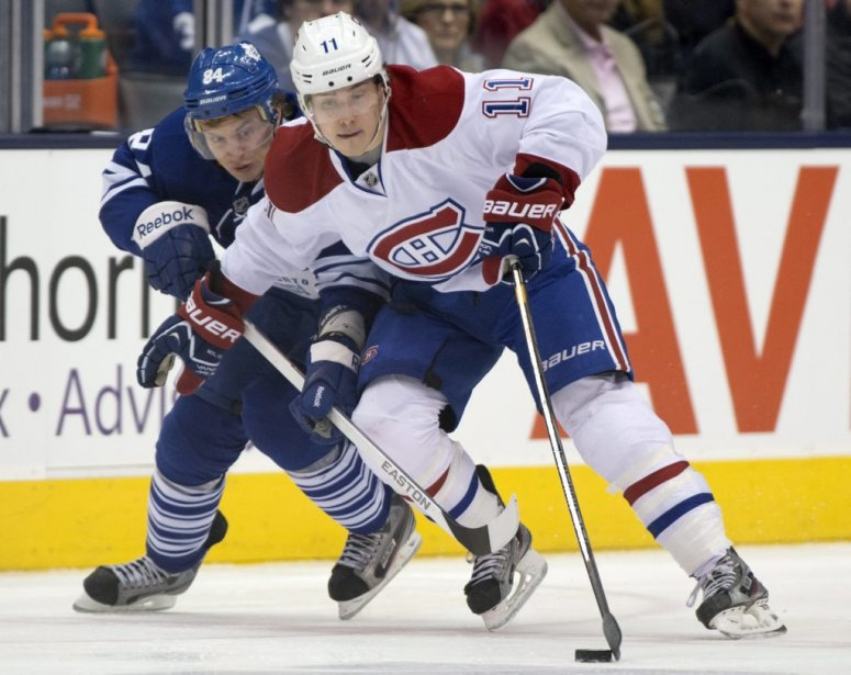 Mikhail Grabovski et Brendan Gallagher (Photo Frank Gunn, La Presse Canadienne)