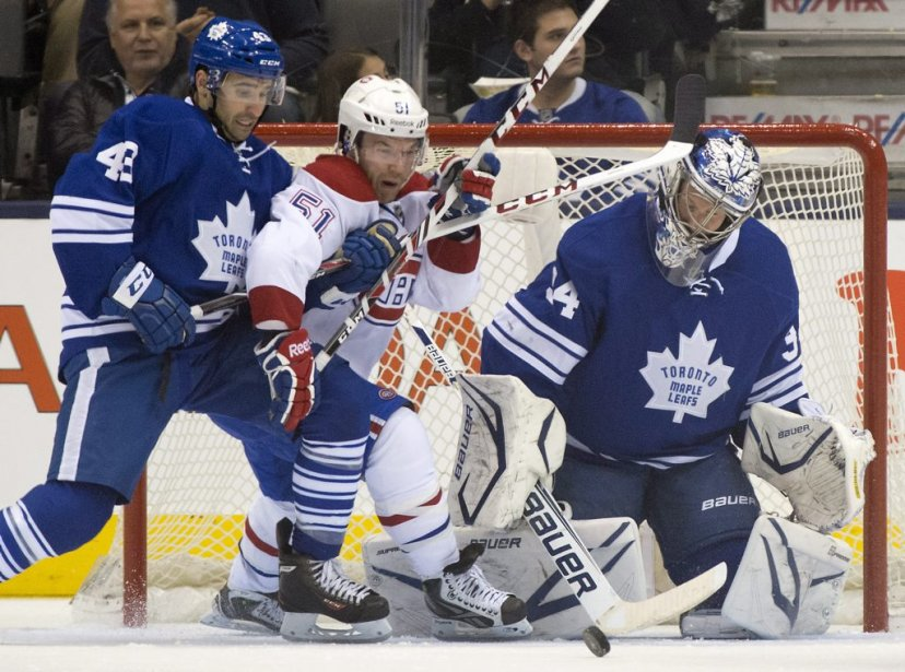 Nazem Kadri, David Desharnais et James Reimer... | 2013-04-27 00:00:00.000