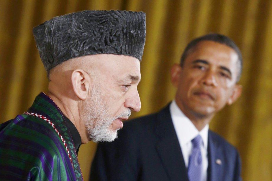 Le président afghan Hamid Karzaï (au premier plan)... (PHOTO JASON REED, ARCHIVES REUTERS)
