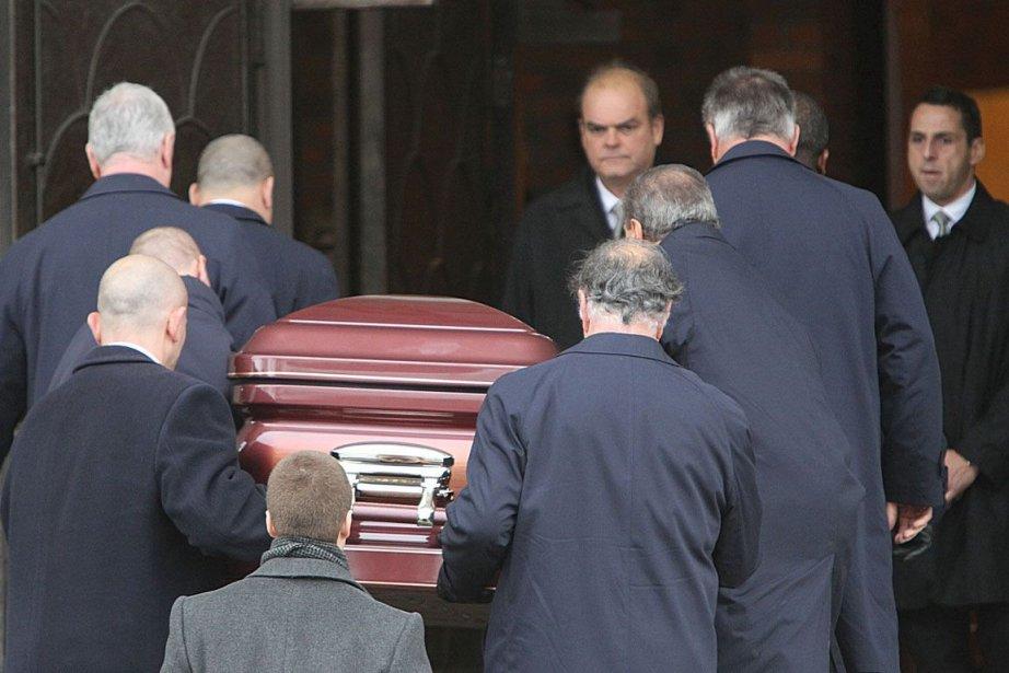 Funérailles de Salvatore Montagna à l'église Notre-Dame-de-Pompéi.... (Photo: Patrick Sanfaçon, La Presse)