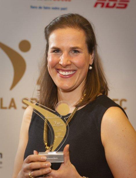 La rameuse Andréanne Morin, chef de nage du huit canadien médaillé d'argent aux Jeux olympiques de Londres, a été élue partenaire de l'année. | 1 mai 2013