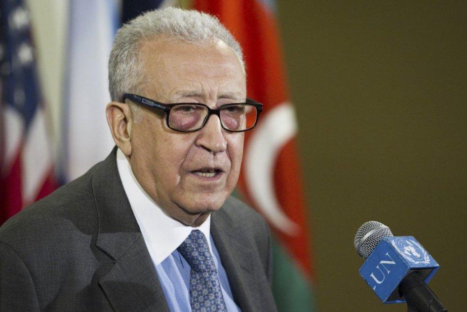 Des rumeurs sur le départ de M. Brahimi... (Photo AFP)