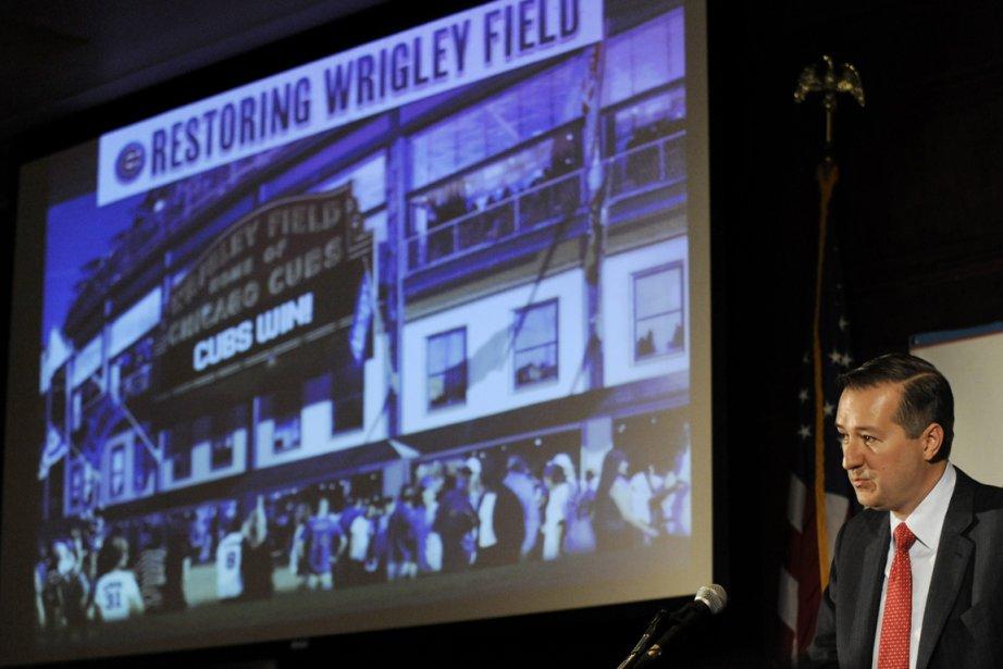 Le propriétaire des Cubs, Tom Ricketts, a présenté... (Photo Paul Beaty, AP)