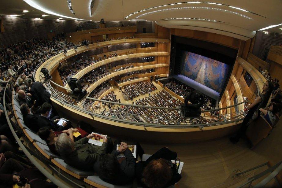 La nouvelle scène du théâtre Mariinski... (Photo: AP)