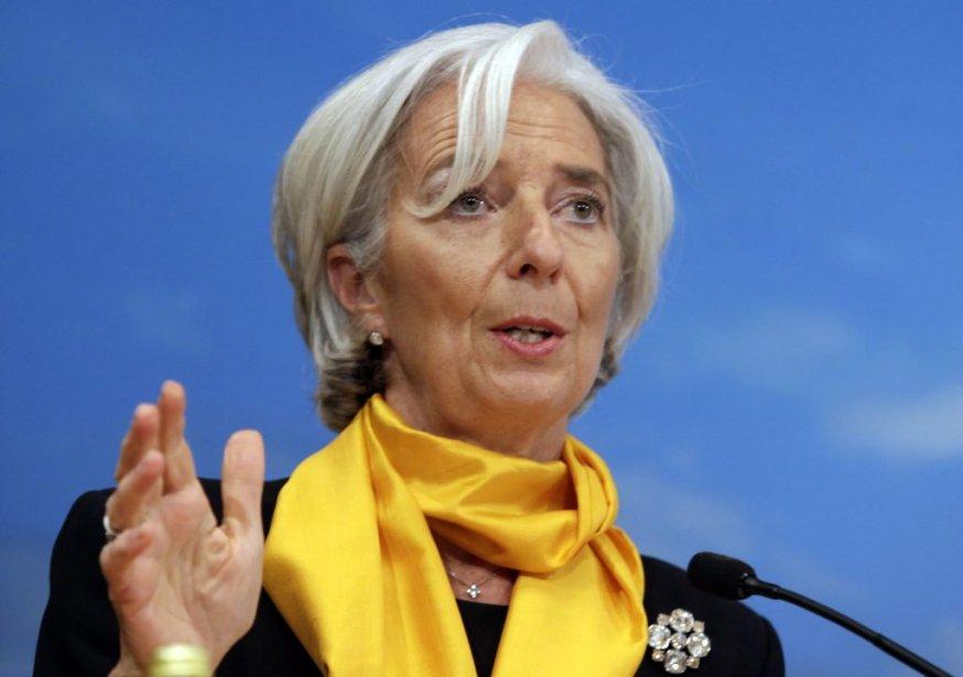 La directrice générale du FMI Christine Lagarde.... (Photo Reuters)
