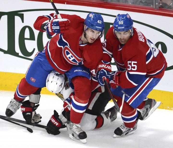 Les luttes furent âpres au Centre Bell pour ce premier match des séries du Canadien. | 2 mai 2013