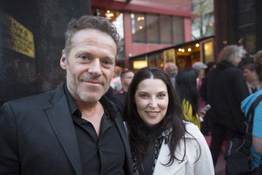 Luc Guérin, accompagné de sa conjointe, la comédienne Catherine Sénart, était ravi d'y assister. (Photo: Olivier Pontbriand, La Presse)
