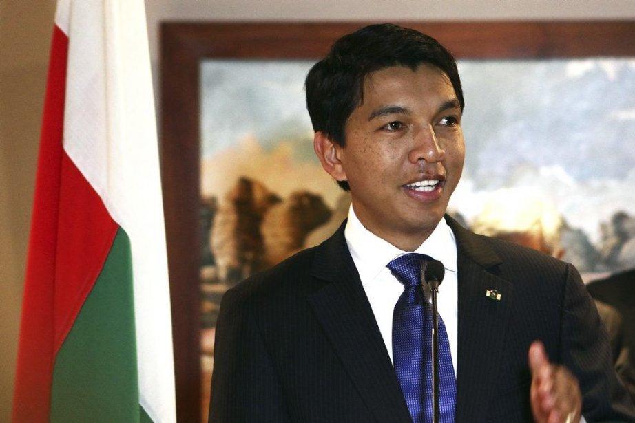 M. Rajoelina, 38 ans, arrivé au pouvoir de... (PHOTO ANDREEA CAMPEANU, AFP)