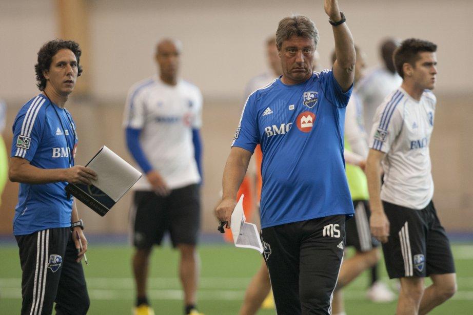 L'entraineur chef, Marco Schällibaum (à droite) et Mauro... (PHOTO DAVID BOILY, ARCHIVES LA PRESSE)