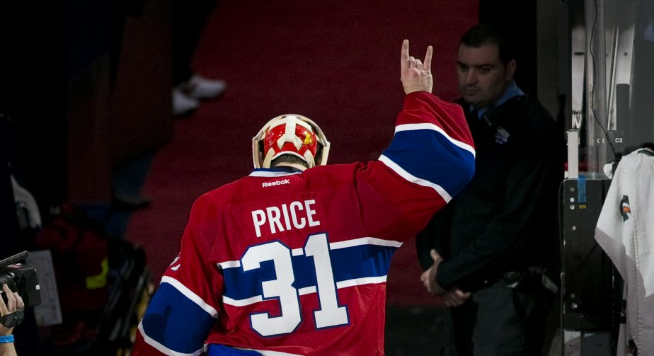 Carey Price salue la foule du Centre Bell | 3 mai 2013
