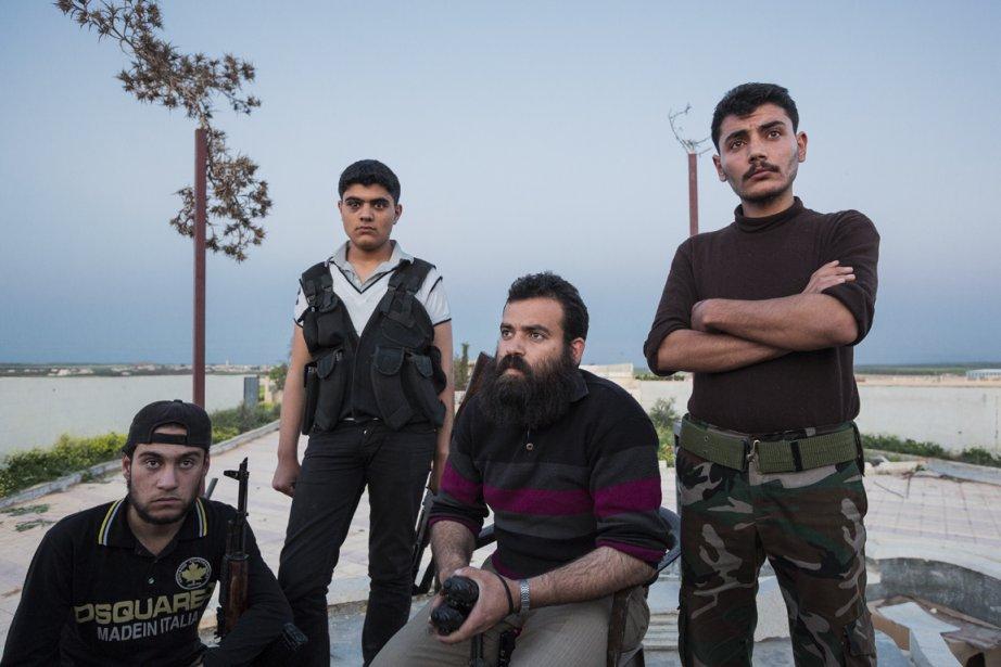Les membres du groupe salafiste Liwa al Fatah... (Photo : Édouard Plante-Fréchette, La Presse)