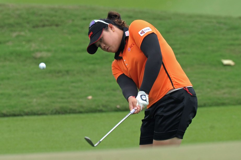 Ariya Jutanugarn, âgée de 17 ans, a remis... (Photo : Pornchai Kittiwongsakul, archives AFP)