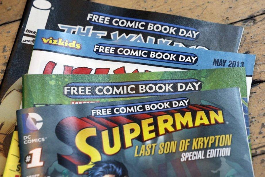 Le 4 mai est la journée Free Comic... (Photo Matt Rourke, AP)