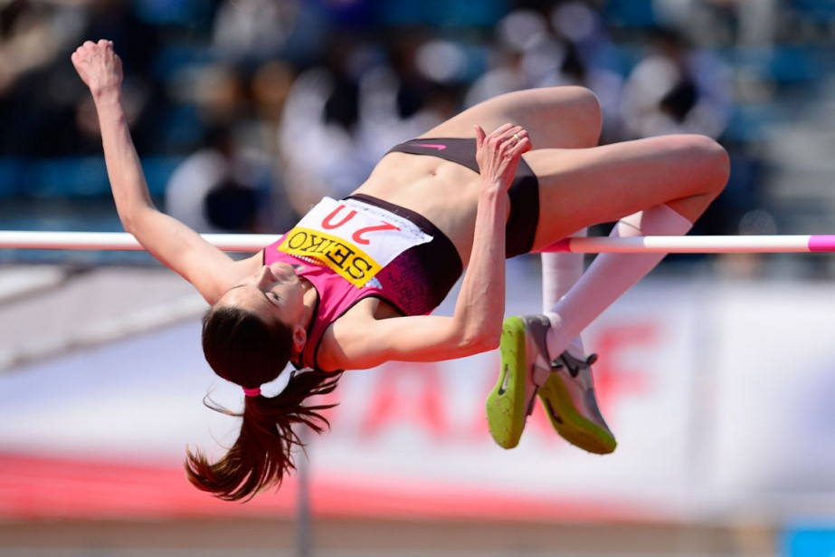 Anna Chicherova a triomphé avec une barre à... (Photo Toru Yamanaka, archives Agence France-Presse)