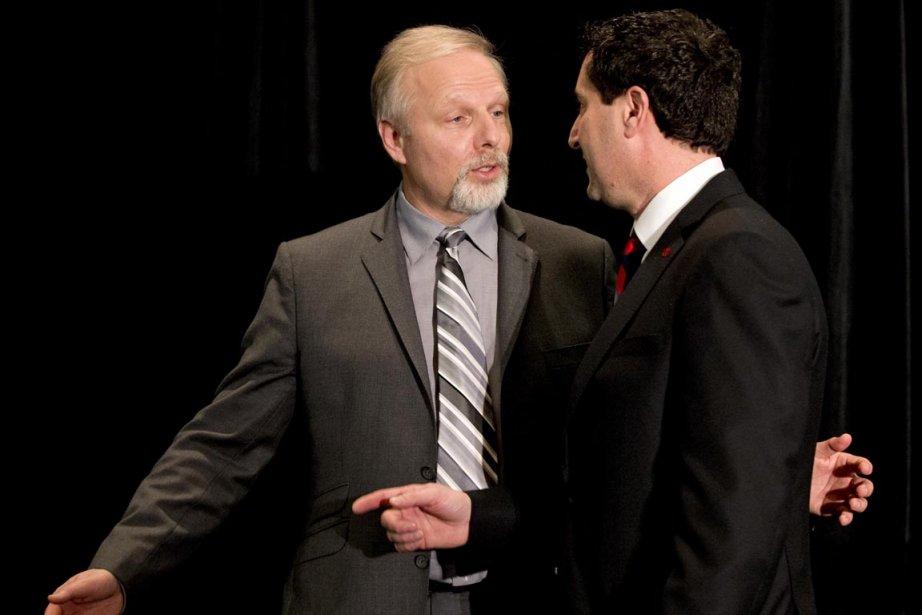 Le maire Michael Applebaum (droite) et le ministre... (Photo : Alain Roberge, La Presse)