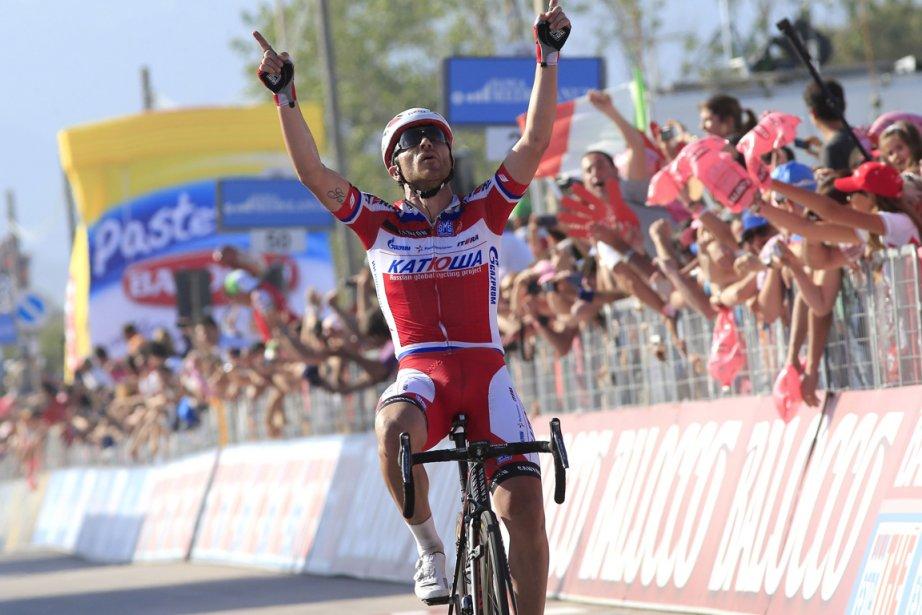 L'Italien Luca Paolini a remporté la troisième étape... (Photo Luk Benies, AFP)