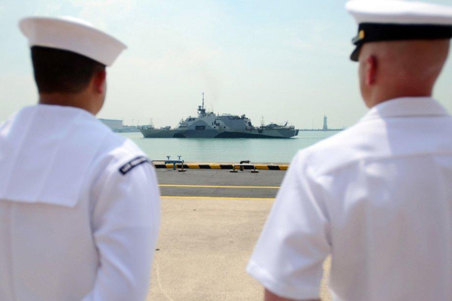 L'USS Freedom est arrivé à Singapour en mars.... (PHOTO AFP/US NAVY)
