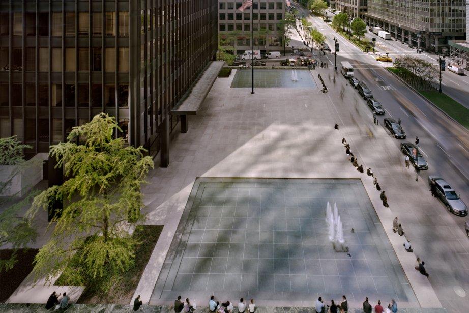L'immense parvis devant le Seagram Building «offre une... (Photo: archives, fournie par le CCA)