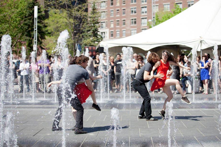 Les danseurs de la Compagnie Virginie Brunelle ont... (Photo: fournie par le Partenariat du Quartier des spectacles)