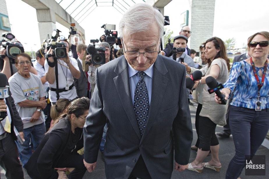 L'ex-maire de Laval, Gilles Vaillancourt à la sortie... (PHOTO PATRICK SANFAÇON, LA PRESSE)