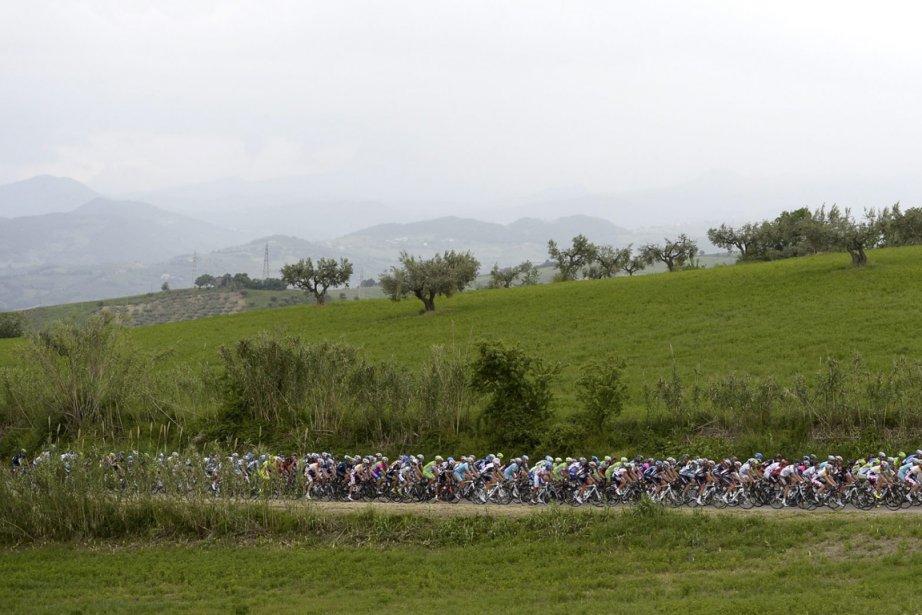 La 7e étape du Tour d'Italie s'est déroulée... (Photo : Fabio Ferrari, AP)