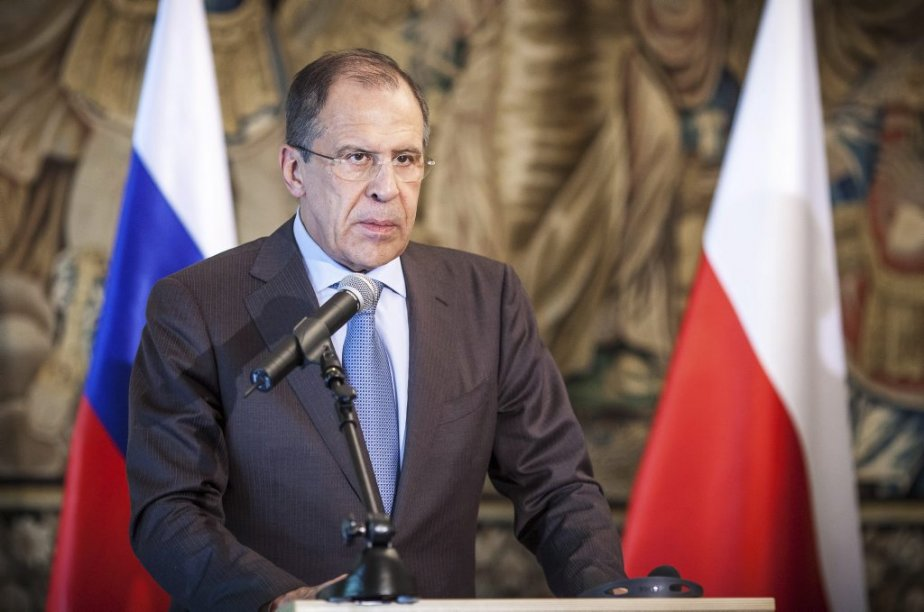 Pour le ministre des Affaires étrangères Sergueï Lavrov,«il... (Photo WOJTEK RADWANSKI, AFP)