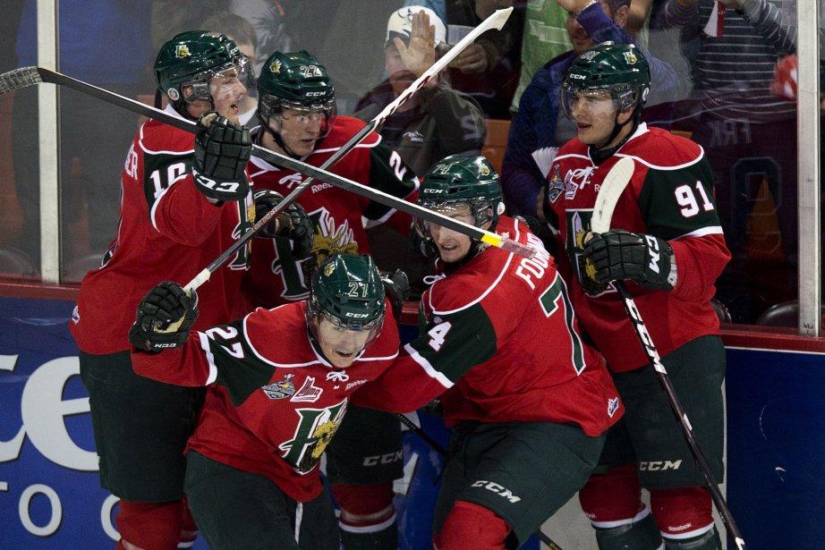 Les Mooseheads de Halifax ont remporté leur première... (Photo Andrew Vaughan, La Presse Canadienne)