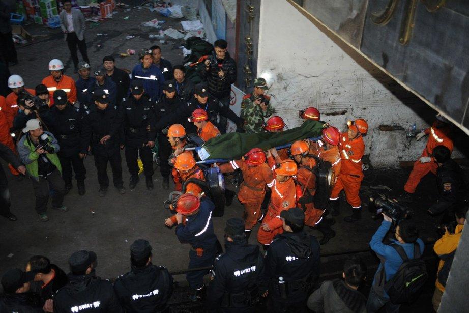 Image prise lors d'une opération de secours le... (Photo AP)