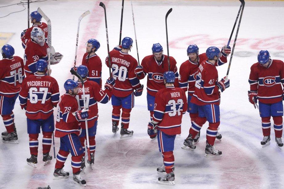 Les joueurs du Canadien font le bilan de... (Photo Bernard Brault, La Presse)