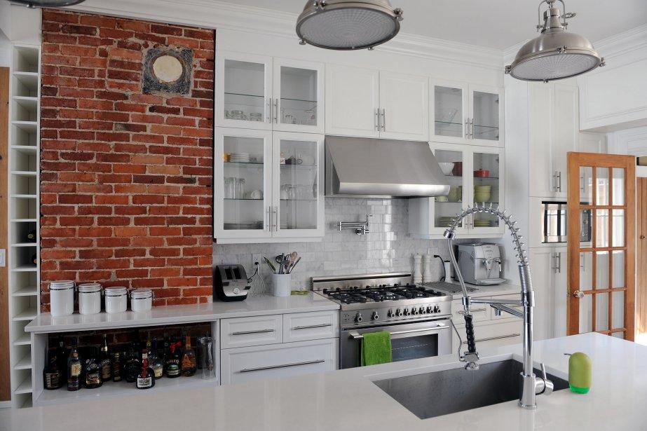 Emejing Mur Cuisine Brique Blanche Images - Amazing House Design ...
