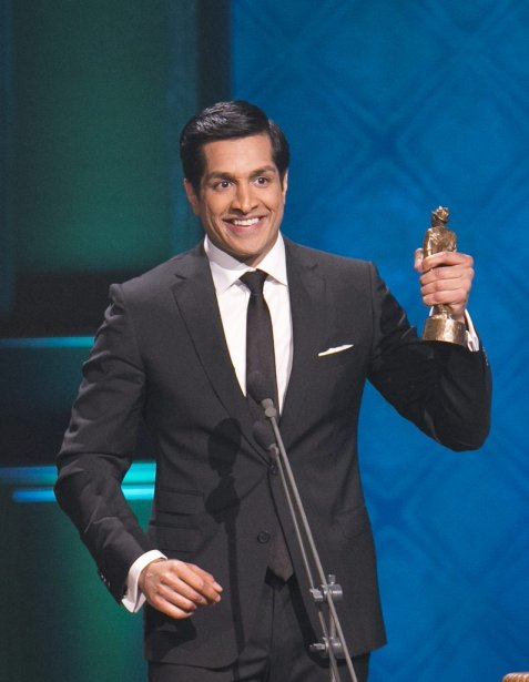 Sugar Sammy a remporté les deux prix prestigieux de la soirée : Spectacle d'humour de l'année et Olivier de l'année. (Hugo-Sebastien AUBERT)