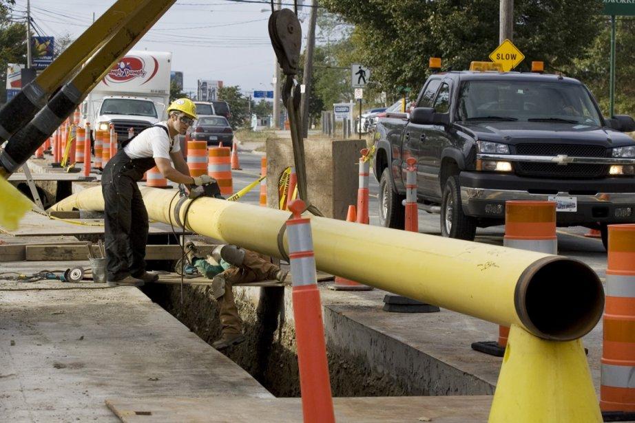 Le prolongement du réseau de Vermont Gas Systems... (Photo Andrew Vaughan, archives La Presse Canadienne)