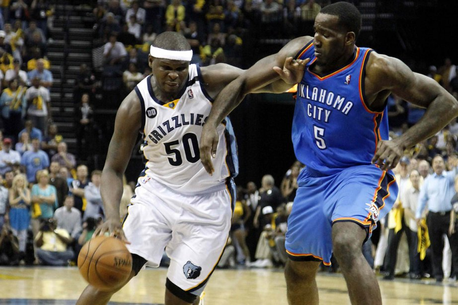Zach Randolph (à gauche) a inscrit 23 points... (Photo Lance Murphey, Reuters)
