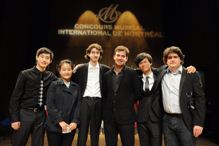 Les six finalistes du Concours international de violon... (Photo: fournie par Martin Boucher communications)