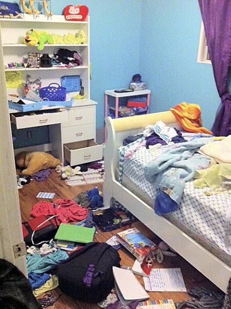 «Elle a 10 ans et elle nous assure qu'elle trouve ça laid une chambre en ordre.»   14 mai 2013
