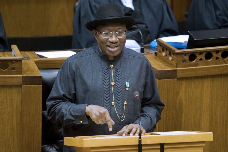 Le président nigérian Goodluck Jonathan.... (PHOTO RODGER BOSCH, AFP)