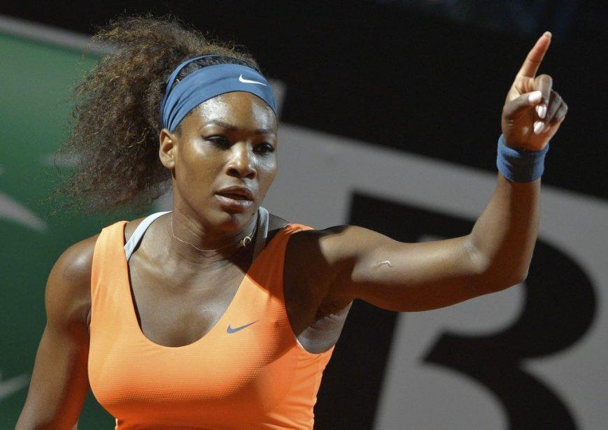 L'Américaine Serena Williams après sa victoire contre Laura... (Photo ANDREAS SOLARO, AFP)