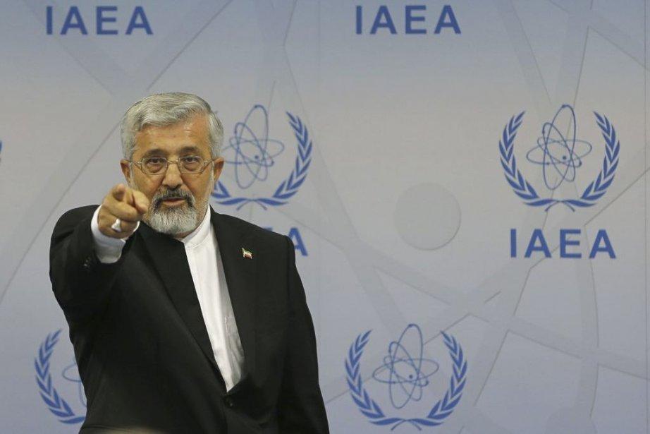L'ambassadeur Ali Asghar Soltanieh mène la délégation iranienne.... (Photo Alexander Klein, Agence France-Presse)