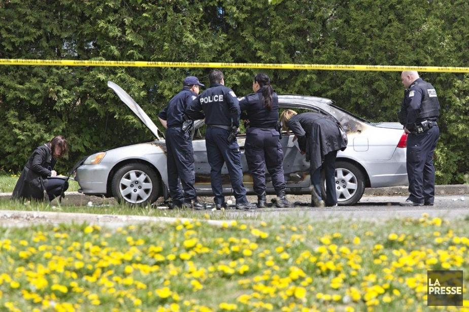 Un corps calciné a été retrouvé dans une... (Photo PATRICK SANFAÇON, LA PRESSE)