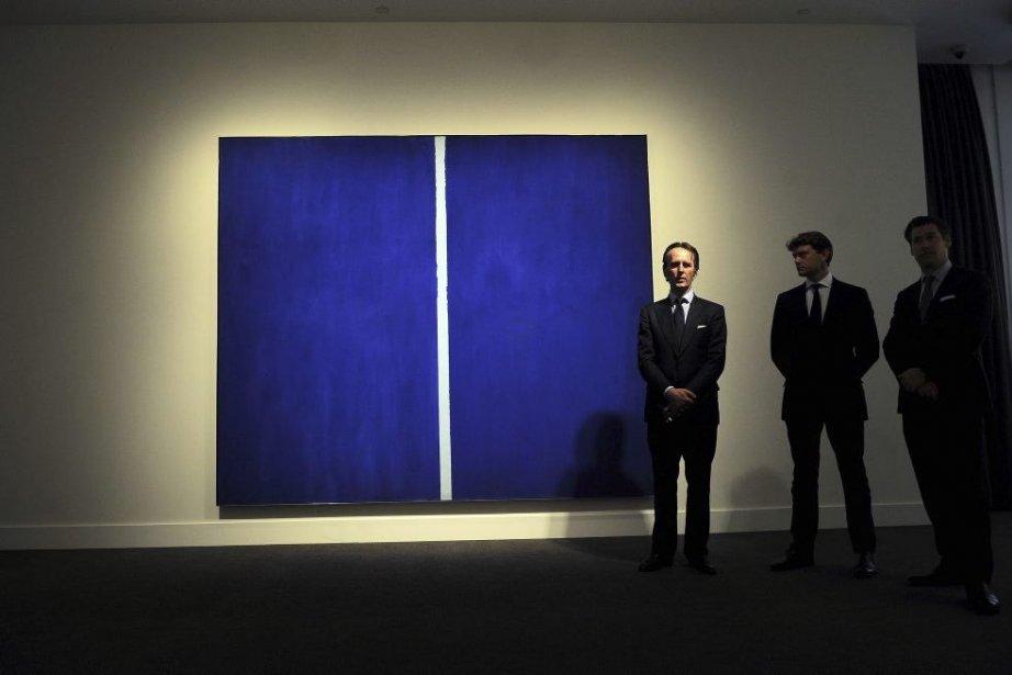 Onement VI de Barnett Newman... (Photo: AFP)