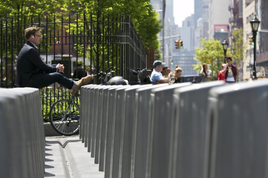 Une station BIXI, dans les rues de New... (Photo Todd Heisler/The New York Times)