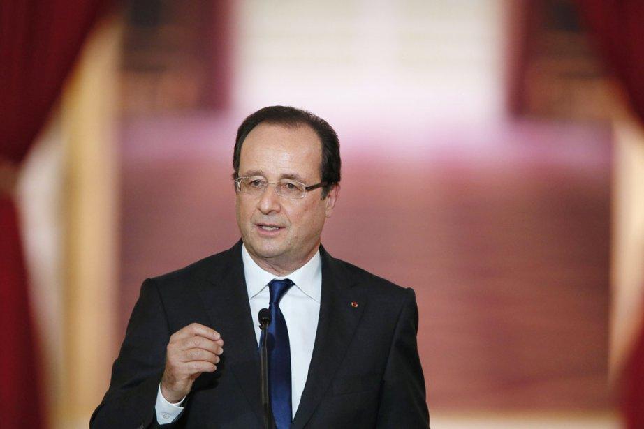 Le président français François Hollande.... (PHOTO PATRICK KOVARIK, AFP)