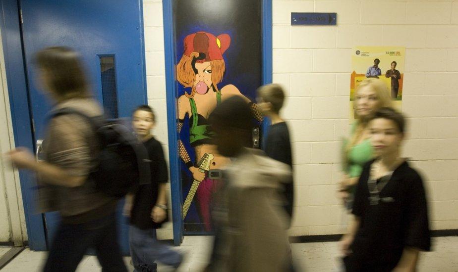 La surpopulation dans les écoles publiques couve une... (Photo Robert Skinner, archives La Presse)