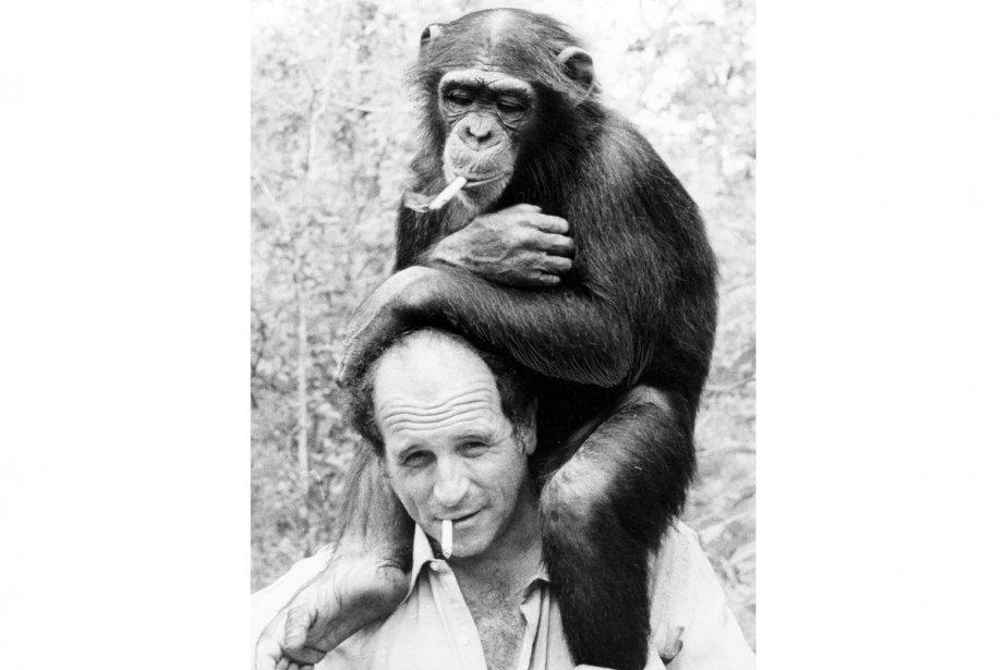 Léo Ferré et sa guenon Pépée, tous deux... (Photo: archives La Presse)
