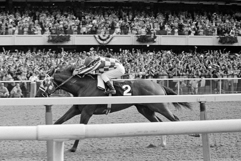 Ron Turcotte et Secretariat filant vers la victoire... (Photo : archives Associated Press)