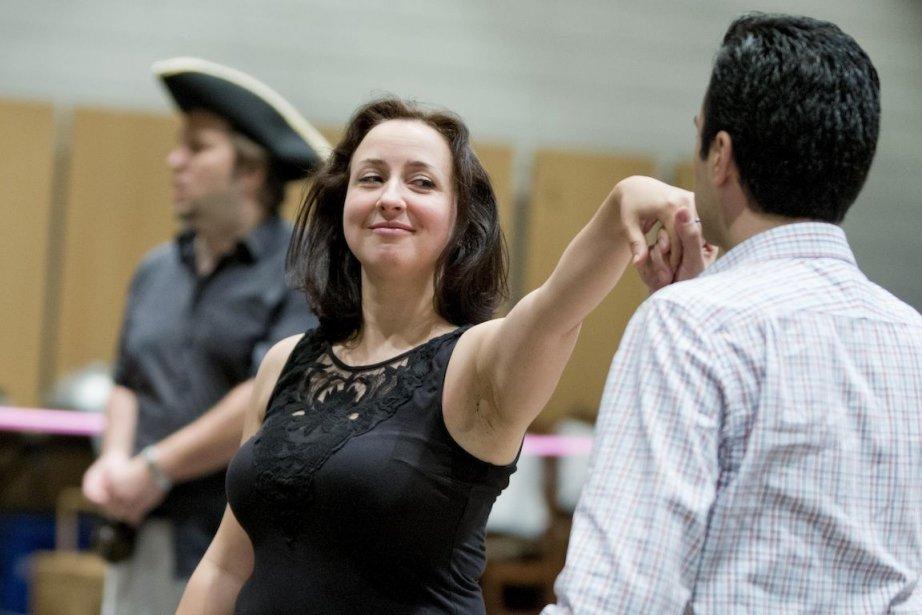 Marianne Fiset en répétition pour son rôle de... (PHOTO ALAIN ROBERGE, LA PRESSE)